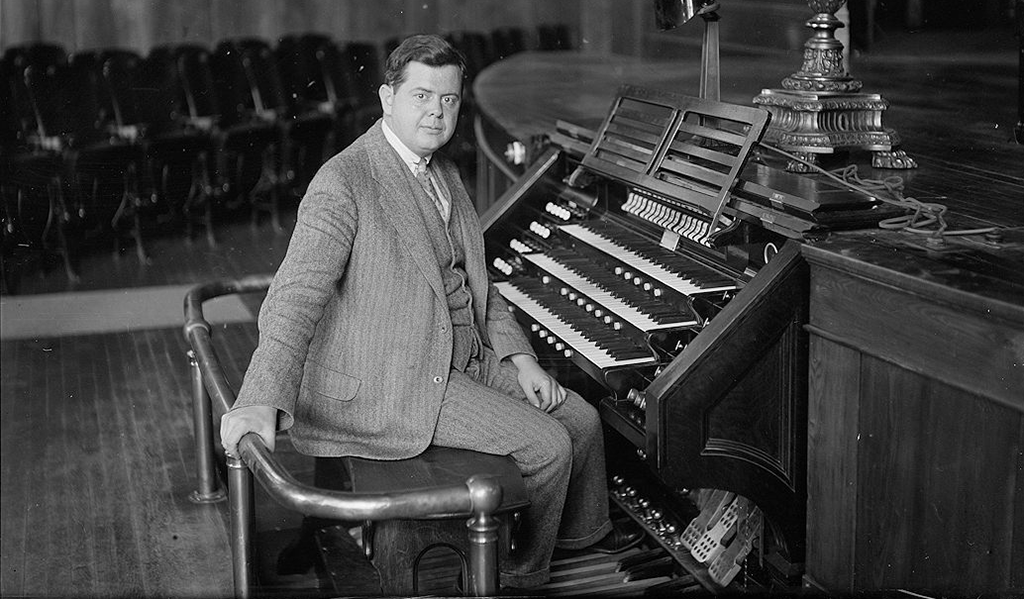 Ernest MacMillan at organ, October 13, 1930.